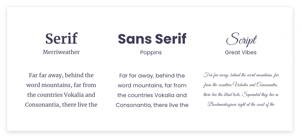 choosing a font for your website